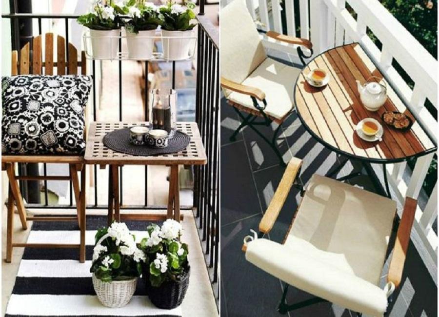 Удачные примеры выбора мебели для маленького балкона (фото) .