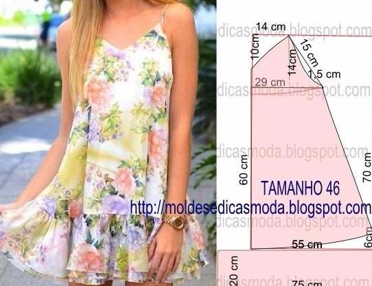 b43e160f3c6 Летние платья и сарафаны с простыми выкройками… Много идей — много ...