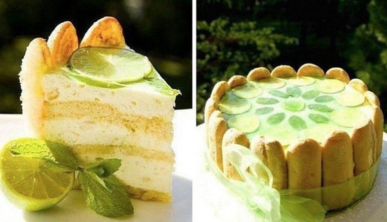 Торт-шарлотта МОХИТО. Вам понравится это вкусовое сочетание