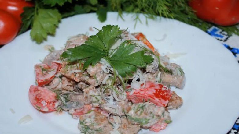 Салат «Быстро и вкусно», вкусно так, что невозможно остановится!