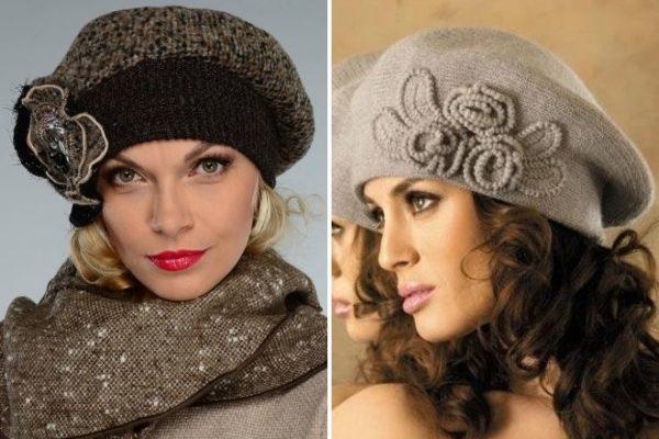 шапки для женщин 50 лет фото зимних и демисезонных моделей на