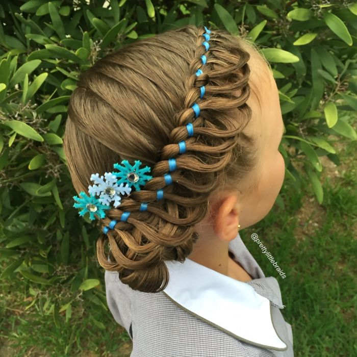 Фото детских причёсок из косичек
