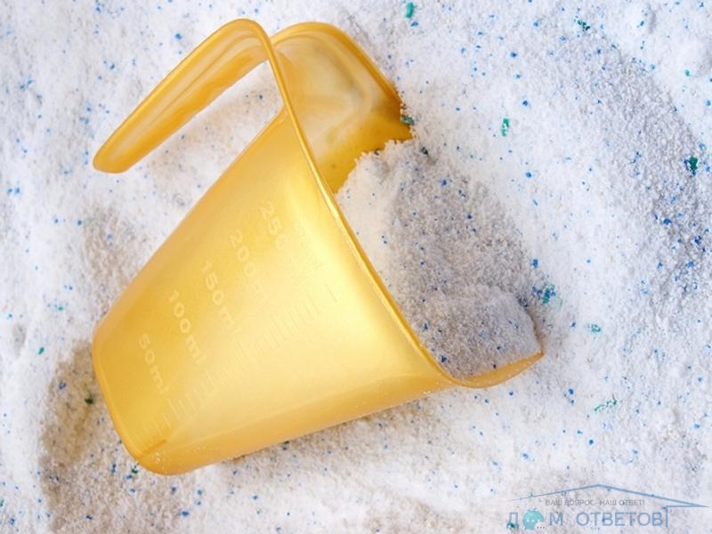 Как растворить окаменевший стиральный порошок