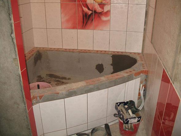 Фото сделать ванну из кирпича