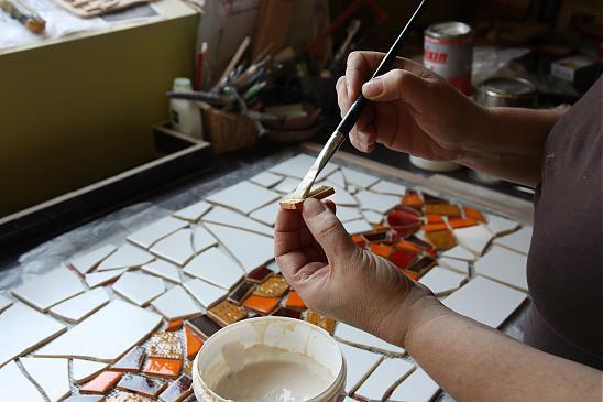 Как сделать мозаику на кухне своими руками