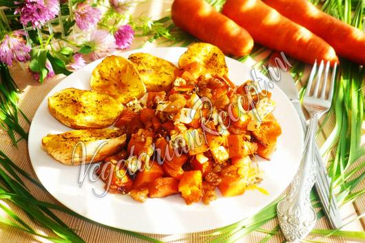 Запеченная морковь в духовке рецепт фото