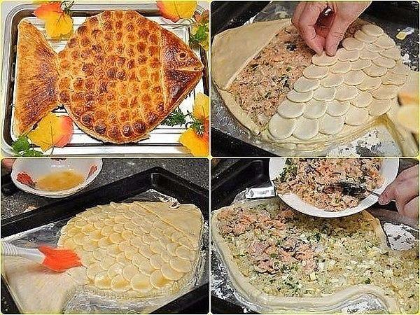 Как красиво оформить рыбный пирог