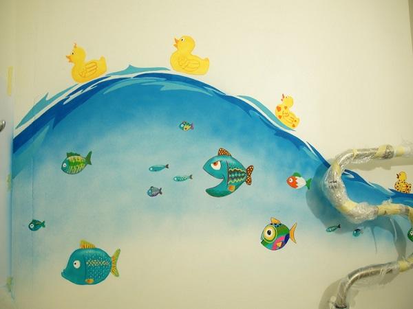 Раскрасить ванную комнату