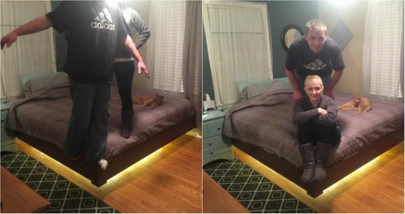 Кровать летающая своими руками размеры 44