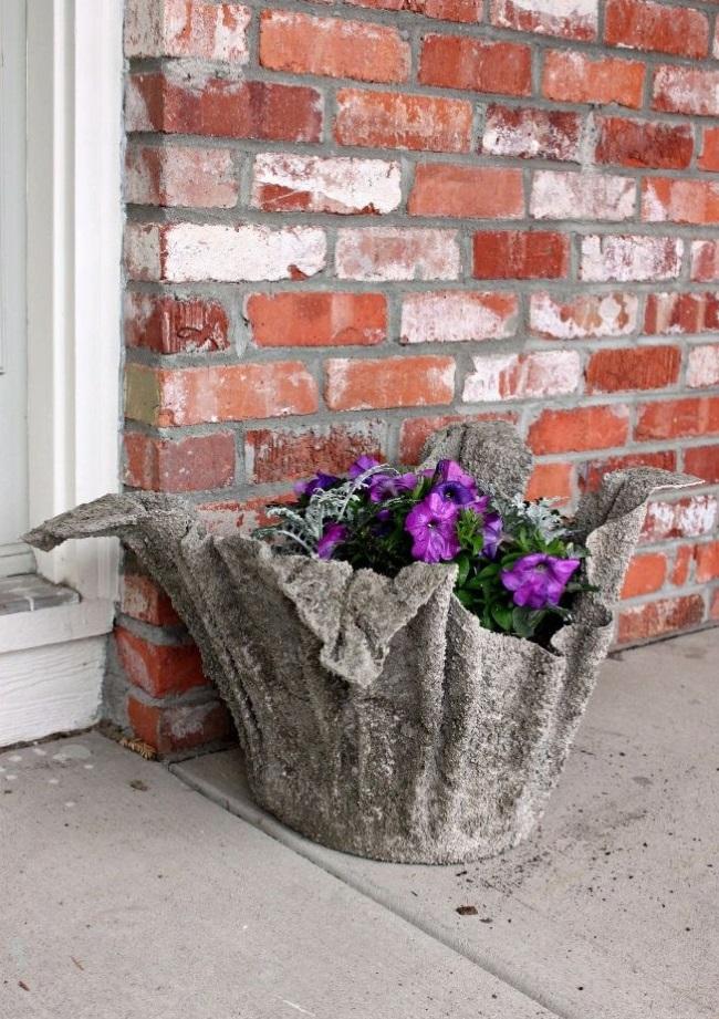 Как сделать своими руками вазоны из цемента для уличных цветов 61