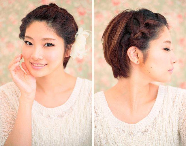Модные прически для коротких волос девушкам