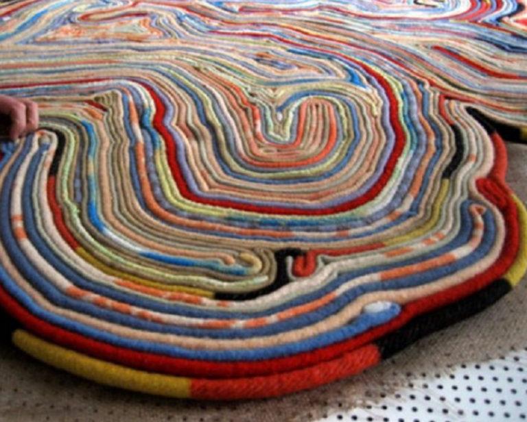 Винтажные коврики своими руками