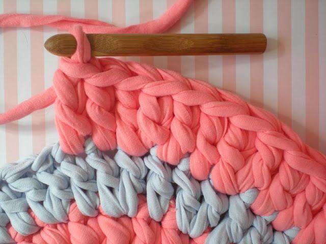 Купить пряжу для вязания коврика крючком