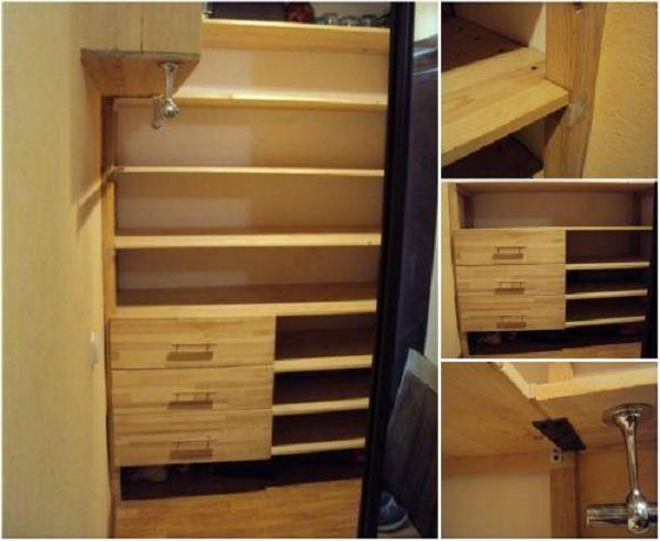 Как сделать гардеробную своими руками в домашних условиях из дерева 61
