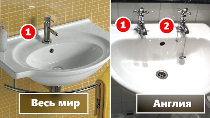 Вот почему в Англии 2 отдельных крана для холодной и горячей воды, а не обычный смеситель!