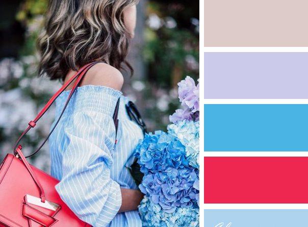 Цветовые сочетания в одежде 2017