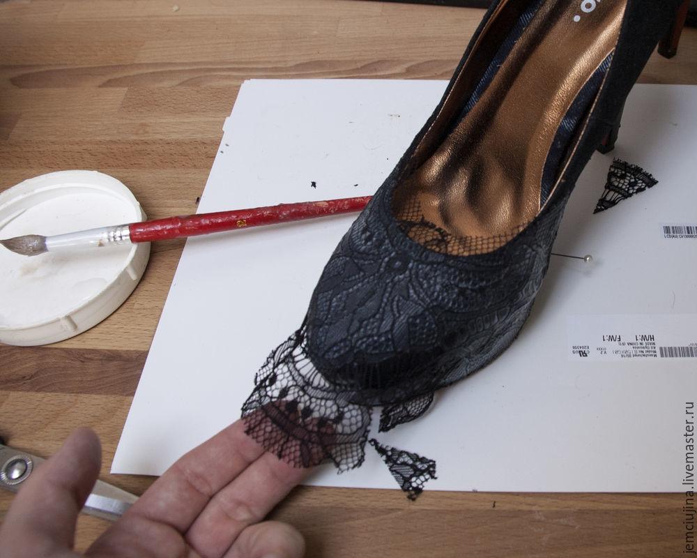 Кружевные туфли своими руками 49