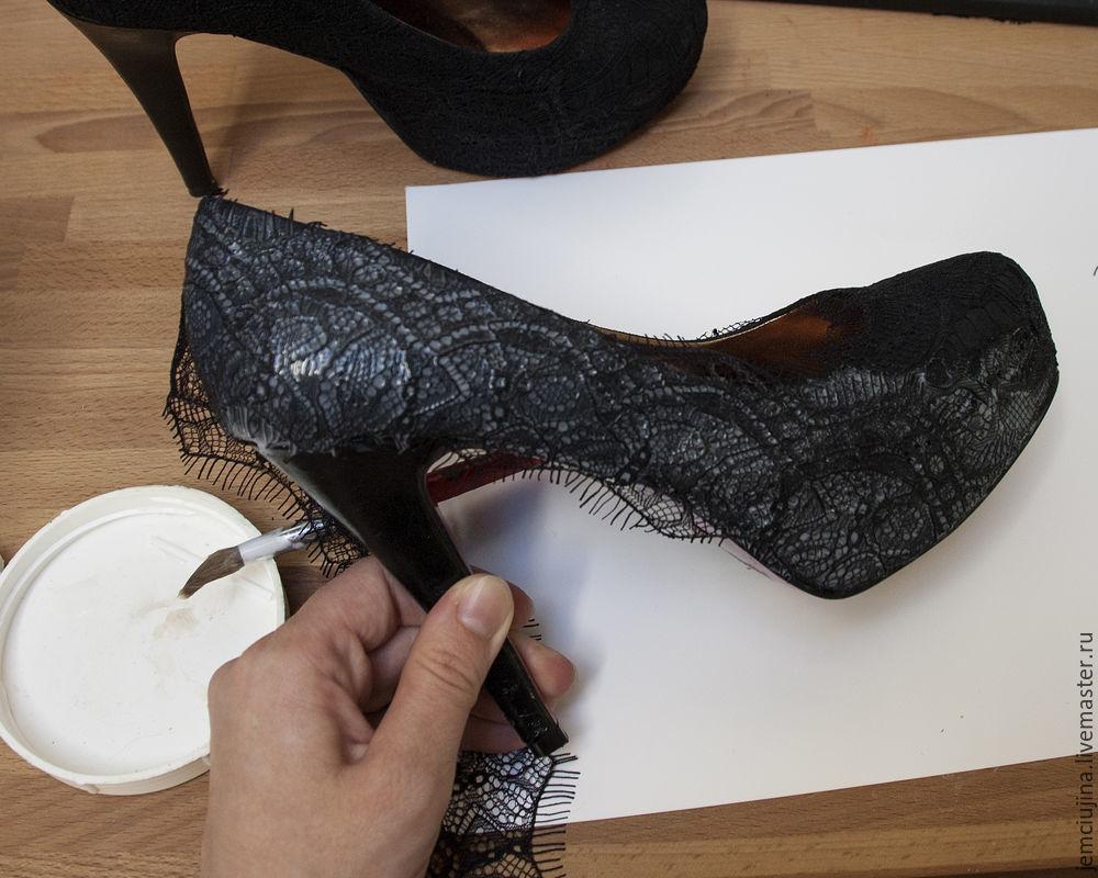 Кружевные туфли своими руками 84