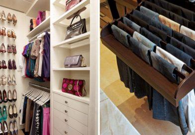 Вспышка вдохновения! 27 идей для гардеробной комнаты и даже для комнатушки…