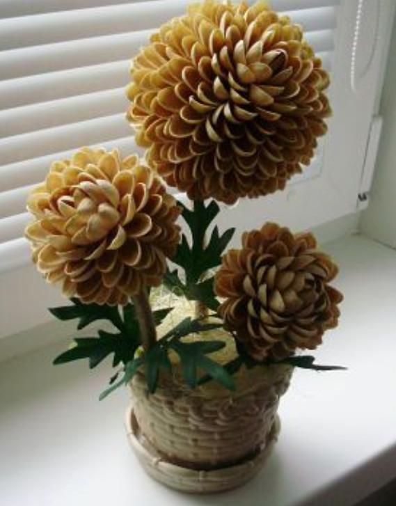 Цветы своими руками из фисташек 759